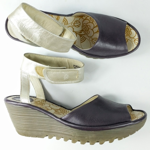 68268ab72484f Fly London Shoes - Fly London Womens Wedge Sandals Size 41 EU 11 US